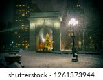 winter holiday night view of... | Shutterstock . vector #1261373944