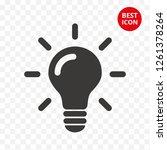 icon light bulb. vector line... | Shutterstock .eps vector #1261378264