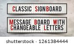set of sign boards with... | Shutterstock .eps vector #1261384444