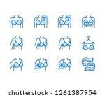 lingerie flat line icons set.... | Shutterstock .eps vector #1261387954
