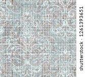 modern pastel colors  damask... | Shutterstock . vector #1261393651