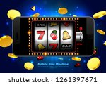 lucky slot machine casino on... | Shutterstock .eps vector #1261397671