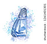 hand drawn sketch with crystal...   Shutterstock . vector #1261401301