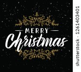 merry christmas. typography.... | Shutterstock .eps vector #1261403401