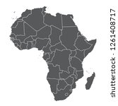 map of africa with country... | Shutterstock .eps vector #1261408717