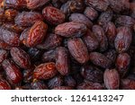dried date fruits background | Shutterstock . vector #1261413247
