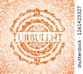 turbulent orange mosaic emblem | Shutterstock .eps vector #1261423327