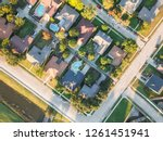 panorama aerial vertical view... | Shutterstock . vector #1261451941