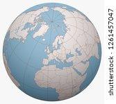 netherlands on the globe. earth ... | Shutterstock .eps vector #1261457047