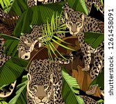 camouflage seamless pattern.... | Shutterstock .eps vector #1261458091