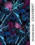 tropical seamless pattern.... | Shutterstock .eps vector #1261458097