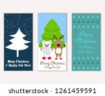 vector illustration of merry... | Shutterstock .eps vector #1261459591