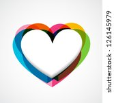 colorful funky vector heart... | Shutterstock .eps vector #126145979