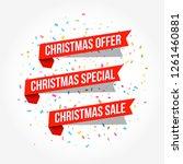 christmas offer  christmas... | Shutterstock .eps vector #1261460881