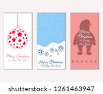 vector illustration of merry... | Shutterstock .eps vector #1261463947