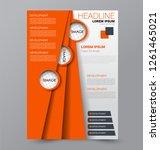 flyer template. design for a...   Shutterstock .eps vector #1261465021