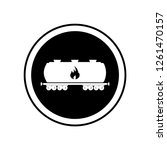 petrol wagon icon. simple... | Shutterstock .eps vector #1261470157