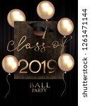 graduation party invitation... | Shutterstock .eps vector #1261471144