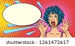 woman panic  fear  surprise... | Shutterstock .eps vector #1261472617