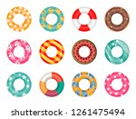 Rubber Rings Set Isolated On...