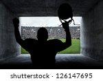 football player running out of... | Shutterstock . vector #126147695