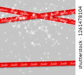 big sale red banners. set of... | Shutterstock .eps vector #1261478104