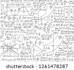 vector mathematical seamless... | Shutterstock .eps vector #1261478287