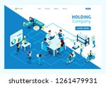 isometric concept work of large ... | Shutterstock .eps vector #1261479931