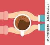 men's and women's hands hold... | Shutterstock .eps vector #1261501177