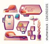 vector cartoon set with... | Shutterstock .eps vector #1261502101