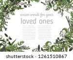 wedding invitation  beautiful...   Shutterstock .eps vector #1261510867