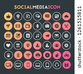 big social media icon set ... | Shutterstock .eps vector #1261515811