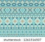 navajo american indian pattern... | Shutterstock .eps vector #1261516507