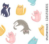 seamless pattern with cute... | Shutterstock .eps vector #1261518331