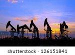 oil pump on orange sunset | Shutterstock . vector #126151841
