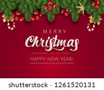 merry christmas happy new year... | Shutterstock .eps vector #1261520131