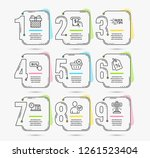 infographic template with... | Shutterstock .eps vector #1261523404