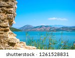 beautiful landscape of ionian... | Shutterstock . vector #1261528831