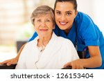 happy senior woman on... | Shutterstock . vector #126153404