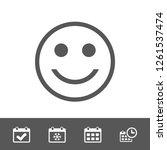 smile icon stock vector... | Shutterstock .eps vector #1261537474