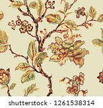 beautiful and colorful floral... | Shutterstock . vector #1261538314