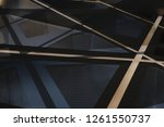 glass and metal in modern... | Shutterstock . vector #1261550737