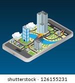 smart phone navigation   mobile ... | Shutterstock .eps vector #126155231