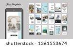 set of editable instagram... | Shutterstock .eps vector #1261553674