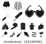 party  entertainment black... | Shutterstock .eps vector #1261569361
