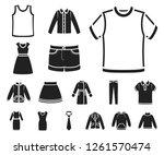 different kinds of clothes... | Shutterstock .eps vector #1261570474