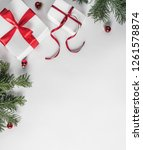 creative frame made of... | Shutterstock . vector #1261578874