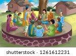 Village Meeting Illustration
