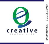 o initial letter logo vector...   Shutterstock .eps vector #1261633984