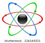 color atomic symbol  vector | Shutterstock .eps vector #126164321